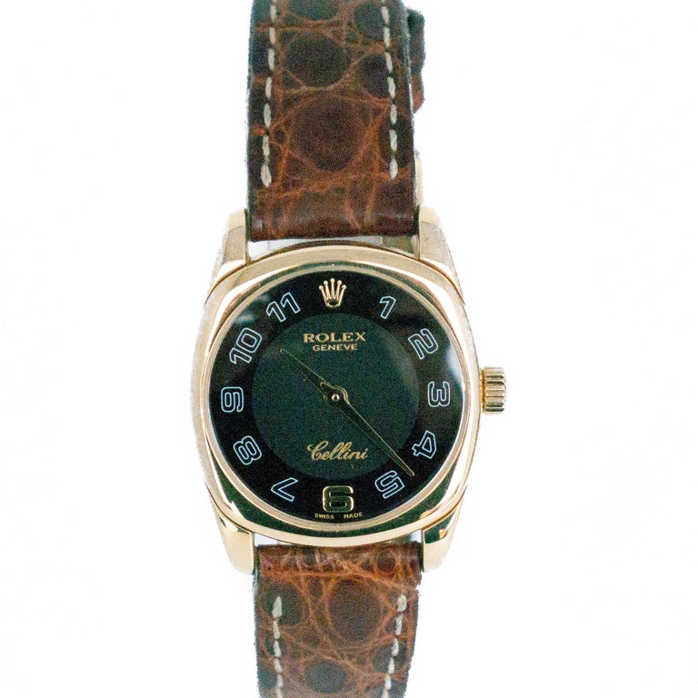 Rolex Cellini Reference #:6229. Rolex Cellini Danaos 6229 18K Yellow Gold White Dial Manual Winding Womens Watch. Verified and Certified by WatchFacts. 1 year warranty offered by WatchFacts.