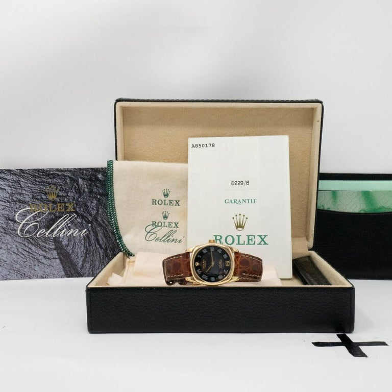 Women's Authentic Rolex Cellini Danaos 6229 with Box and Papers For Sale