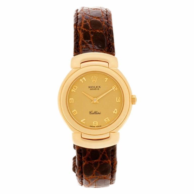 Contemporary Certified Authentic, Rolex Cellini 5880, Black Dial