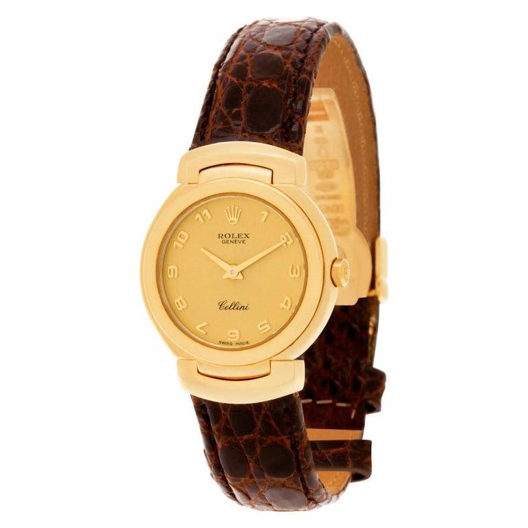 Certified Authentic, Rolex Cellini 5880, Black Dial In Excellent Condition In Miami, FL