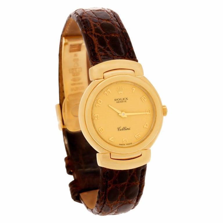 Women's Certified Authentic, Rolex Cellini 5880, Black Dial