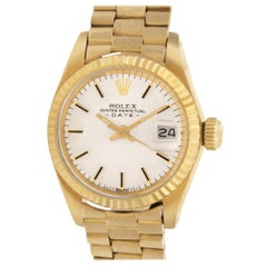 Certified Authentic Rolex Date 6660, Gold Dial