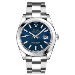 Certified Authentic Rolex Datejust II7440, Blue Dial