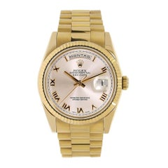 Certified Authentic Rolex Day-Date23639 Gold Dial