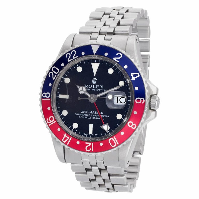Contemporary Certified Authentic Rolex GMT Master II 17940, Gold Dial