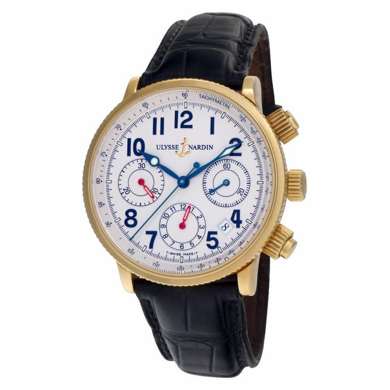 Contemporary Certified Authentic, Ulysse Nardin Marine 10560, Black Dial
