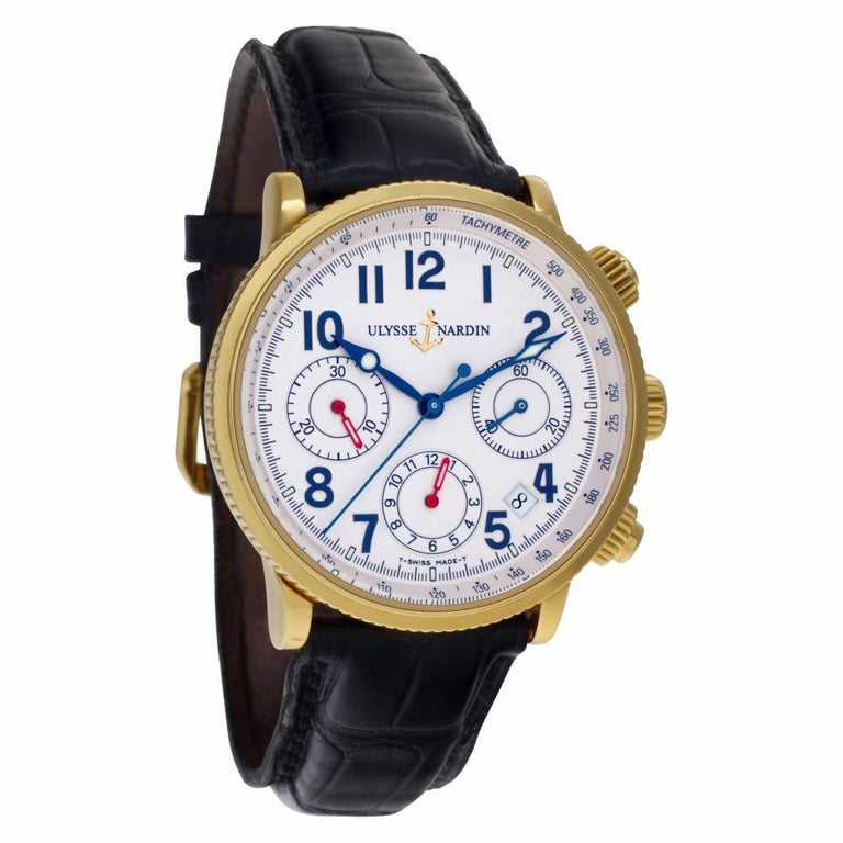 Certified Authentic, Ulysse Nardin Marine 10560, Black Dial In Excellent Condition In Miami, FL