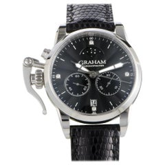 Certified Authentic & Warranty, Graham Chronofighter2036, Millimeters Black Dial