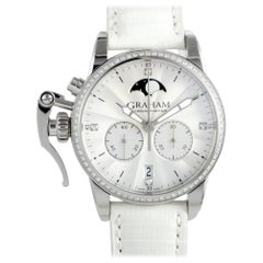 Certified Authentic & Warranty, Graham Chronofighter3305, Millimeters White Dial