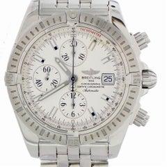 Zertifizierte Breitling Chronomat A13356 mit Band und blauem Ziffernblatt