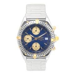 Zertifizierter Breitling Chronomat B13047 mit blauem Ziffernblatt