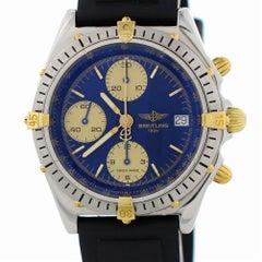 Zertifizierter Breitling Chronomat B13048 mit Band und blauem Ziffernblatt