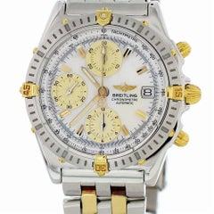 Zertifizierter Breitling Chronomat B13352 mit Band und weißem Ziffernblatt