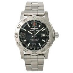 Certified Breitling Colt 44 A74387 Men's Quartz Watch Black Dial Stainless Steel