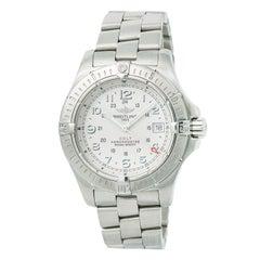 Certified Breitling Colt A74380 Men's Quartz Watch Cream Dial Stainless Steel 41