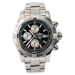 Certified Breitling Super Avenger II A13371 Men's Automatic Watch Chronograph SS
