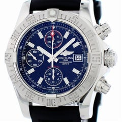 Certified Breitling Super Avenger II A13371 with Band and Black Dial
