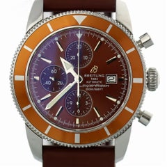 Certified Breitling Superocean A13320 with Band and Brown Dial