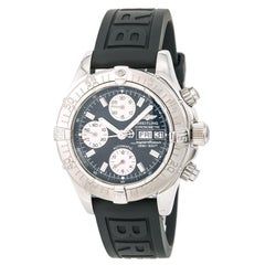 Certified Breitling Superocean A13340 Men's Automatic Watch Black Dial Chronogra