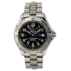 Certified Breitling Superocean A17340 Men's Automatic Watch Black Dial Stainless