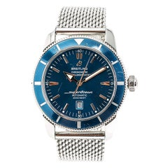 Certified Breitling Superocean Heritage 46 A17320 Mens Automatic Watch Blue Dial