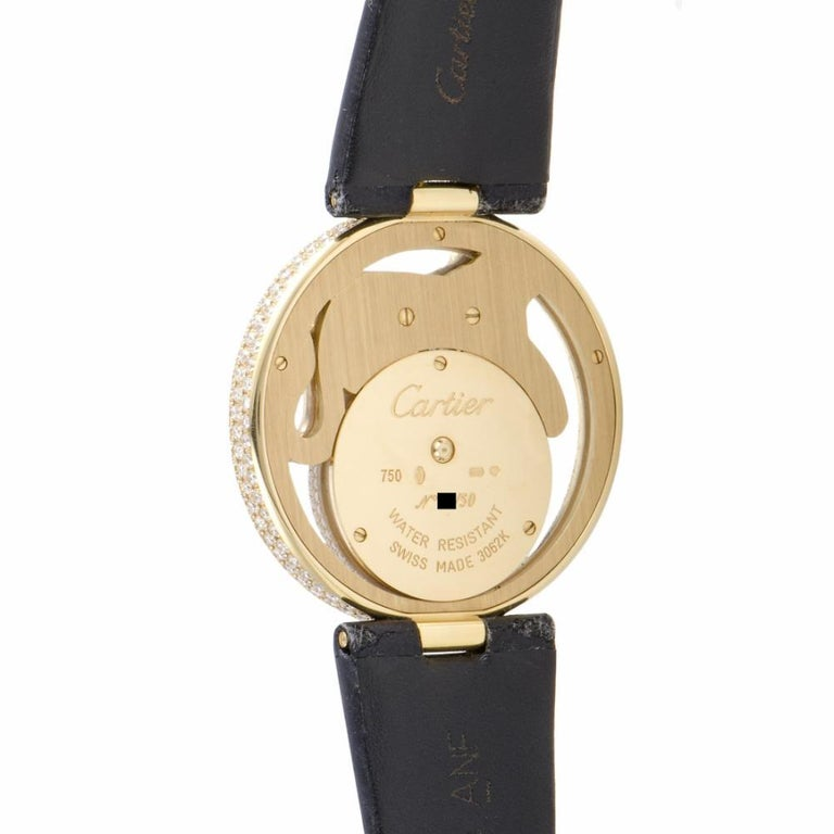 Contemporary Certified Cartier Cirque Tiger WS000250 yellow gold Watch