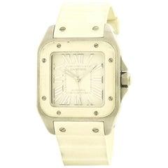Certified Cartier Santos 100 W20122U2 Stainless Steel Women's Watch
