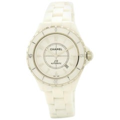 Certified Chanel J12 H2981 Ceramic Case Automatic Watch
