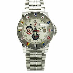 Certified Corum Admiral Cup Tides 977.630.20 Stainless Steel Men's