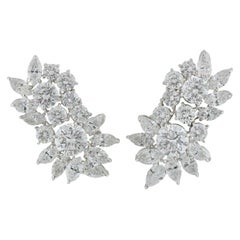 Certified Diamond Cluster Earrings 20.0 Carat