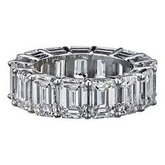 Emerald Cut Diamond Eternity 15.53 Carat Platinum Ring