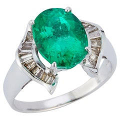 Certified Emerald & Diamond Ring