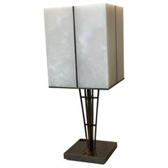 Certified Maison Baguès Table Lamp Brass and Alabaster
