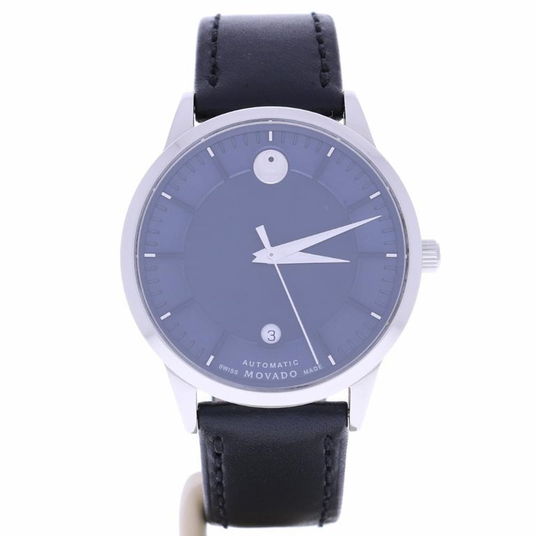 Certified Movado 0606874 Blue Dial