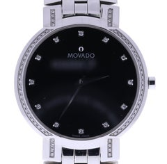 Certified Movado Faceto 84451891s Black Dial