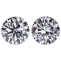 Certified Natural 4 Carat Diamond Studs