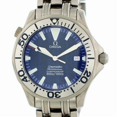 Certified Omega Seamaster 2231.80.00, Titanium Bezel and Blue Dial