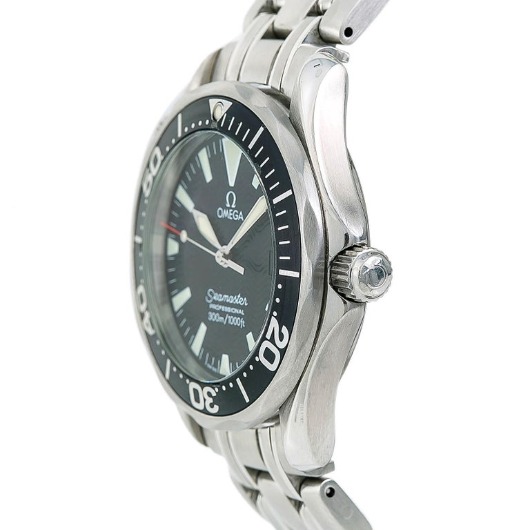 Contemporary Certified Omega Seamaster 2262.50.00 Men's Quartz Watch Stainless Steel For Sale