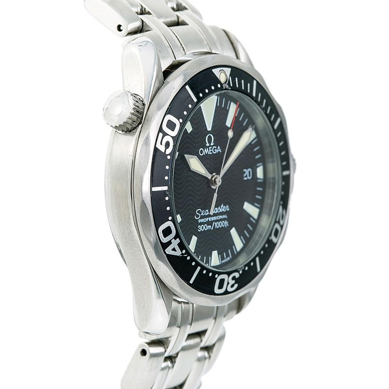 Certified Omega Seamaster 2262.50.00 Men's Quartz Watch Stainless Steel For Sale 1