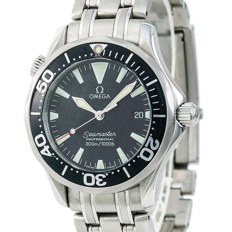 Certified Omega Seamaster 2262.50.00 Men's Quartz Watch Stainless Steel For Sale 2