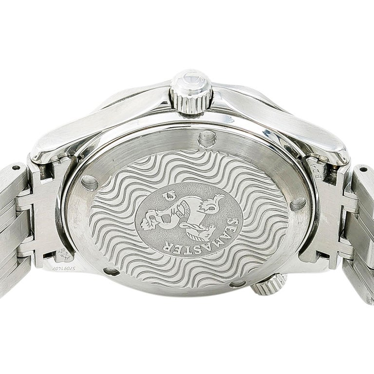 Certified Omega Seamaster 2262.50.00 Men's Quartz Watch Stainless Steel For Sale 4