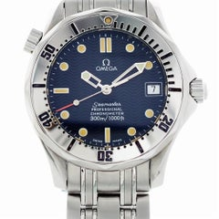 Certified Omega Seamaster 2531.80.00 with Band and Blue Dial