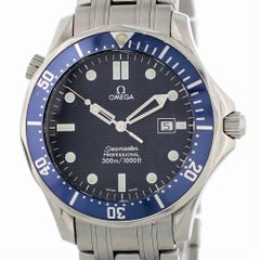 Certified Omega Seamaster 2541.80.00 with Band and Blue Dial