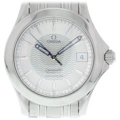 Certified Omega Seamaster with Band and Silver Dial