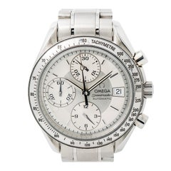 Certified Omega Speedmaster with Band, SS Bezel and Silver Dial