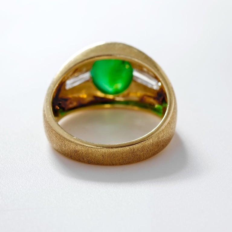 Women's or Men's Certified Omphacite Jade Ring of