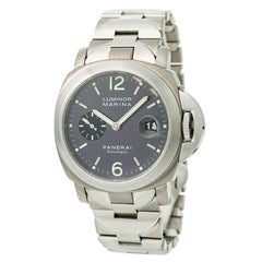 Certified Panerai Luminor Marina PAM 91 Men's Automatic Watch Black Dial