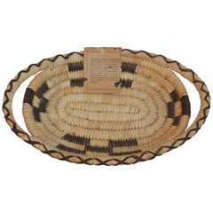 Certified Papago Arizona Basket with the Original Papers