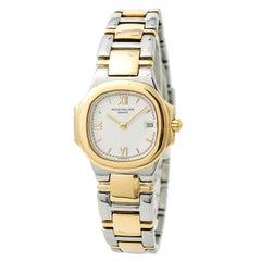 Certified Patek Philippe Nautilus 4700/51 Women's Quartz Watch Two-Tone SS