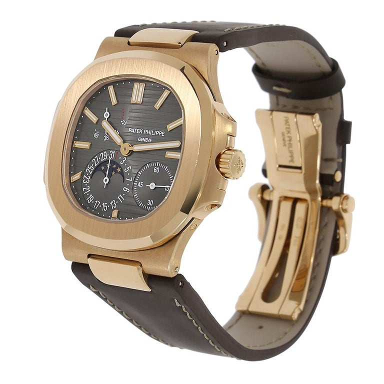 Contemporary Certified, Patek Philippe Nautilus Moon Phase Rose Gold Watch 5712R-001